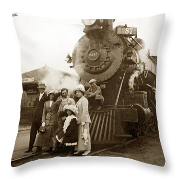 S P Baldwin Locomotive 2285  Class T-26 Ten Wheel Steam Locomotive At Pacific Grove California 1910 Throw Pillow