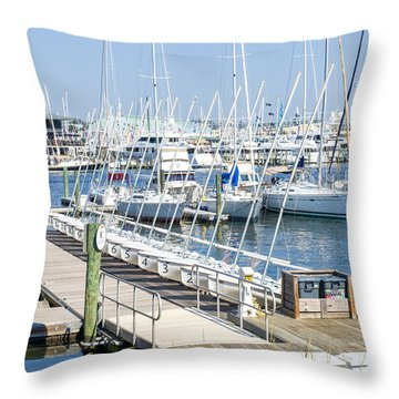 Throw Pillow featuring the photograph Spa At 6th Street by Charles Kraus