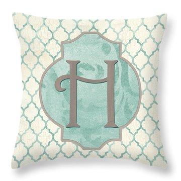 Spa Monogram Throw Pillow