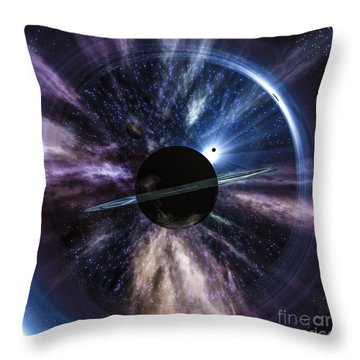 Space Throw Pillow by Arlene Sundby