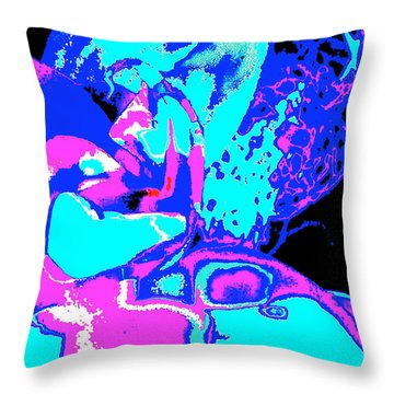 Space Collision Throw Pillow