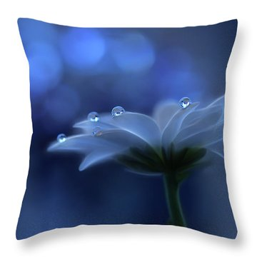 Water Droplet Throw Pillows
