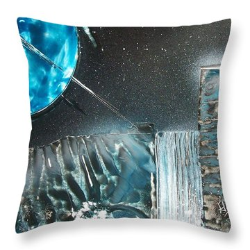 Space-fall Throw Pillow