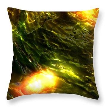 Space Fall Throw Pillow by Richard Thomas