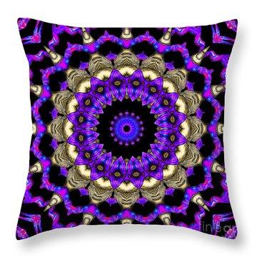 Throw Pillow featuring the digital art Space Flower 3d Art by Hanza Turgul