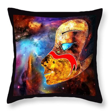 Throw Pillow featuring the painting Space  Glory by Hartmut Jager