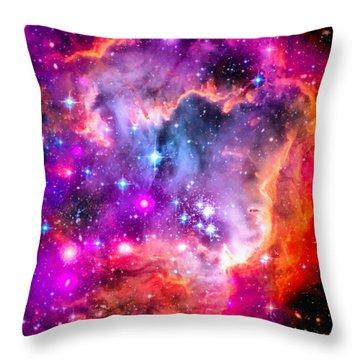 Space Image Small Magellanic Cloud Smc Galaxy Throw Pillow by Matthias Hauser