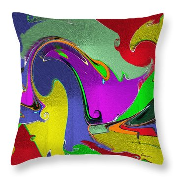 Throw Pillow featuring the mixed media Space Interface by Carl Hunter