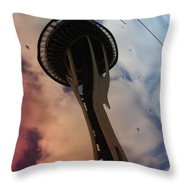 Space Needle Reflections IIi Throw Pillow