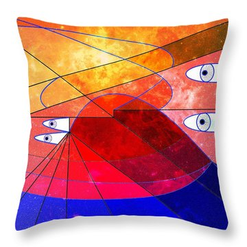 Space Odyssey 02 Throw Pillow by Ron Davidson