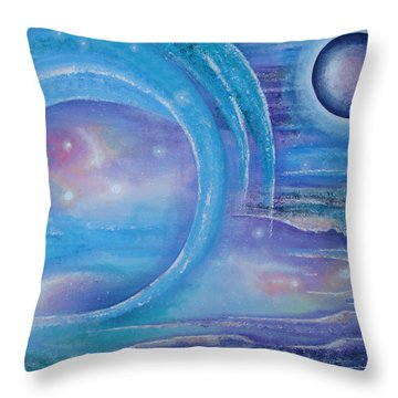 Space Paradise Throw Pillow