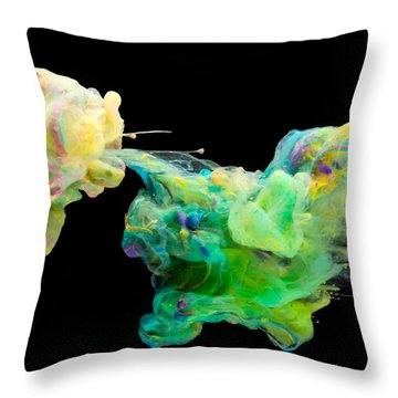 Space Romance - Abstract Photography Art Throw Pillow