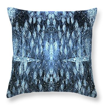 Throw Pillow featuring the digital art Space Sentinels by Stephanie Grant
