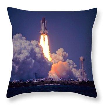 Space Shuttle Challenger Sts-6 First Flight 1983 Photo 1  Throw Pillow