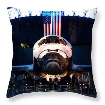Space Shuttle Discovery Throw Pillow by Patti Whitten