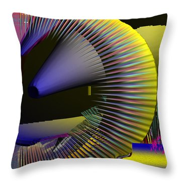 Space Station 3000 Throw Pillow by Robert Margetts