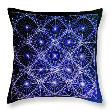 Space Time At Planck Length Vibrating At Speed Of Light Due To Heisenberg Uncertainty Principle Throw Pillow by Jason Padgett