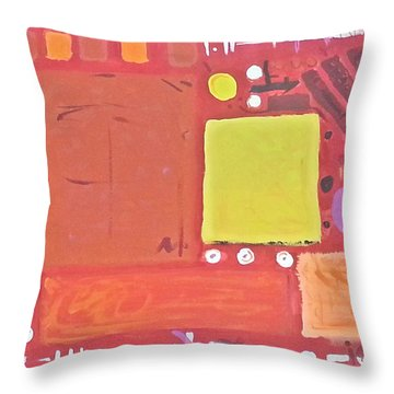Space-time Food Fight Throw Pillow