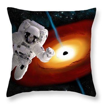Space Walk No.15 Throw Pillow