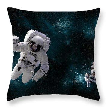 Space Walk No.16 Throw Pillow