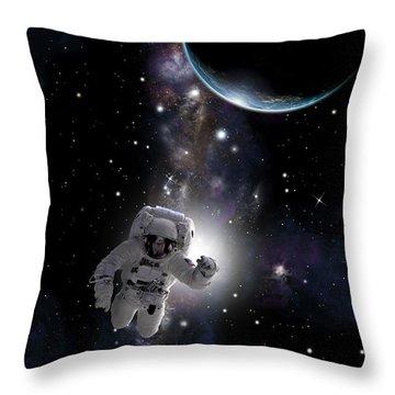 Space Walk  No.1v Throw Pillow