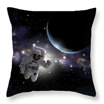 Space Walk No.2 Throw Pillow