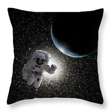 Space Walk No.5  Throw Pillow