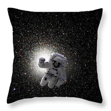 Space Walk No.5v Throw Pillow