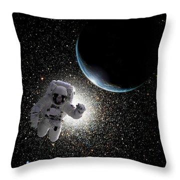 Space Walk No.6 Throw Pillow