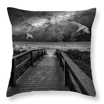 Space Walkway Throw Pillow