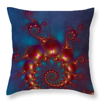 Space Worm Throw Pillow by Ester  Rogers