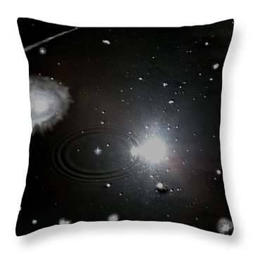 Throw Pillow featuring the photograph Spacescape  by Christopher Rowlands