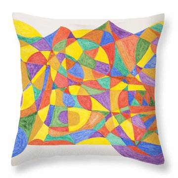 Throw Pillow featuring the painting Space Craft by Stormm Bradshaw