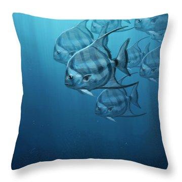 Spade Fish Throw Pillow by Aaron Blaise
