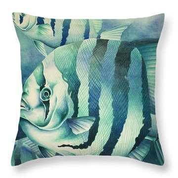 Spadefish Throw Pillow