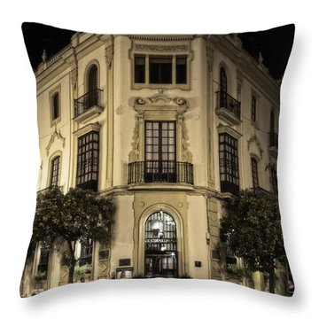 Spain At Night Throw Pillow by Mary Machare