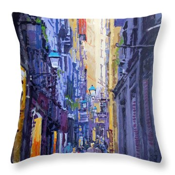 Spain Series 10 Barcelona Throw Pillow by Yuriy Shevchuk