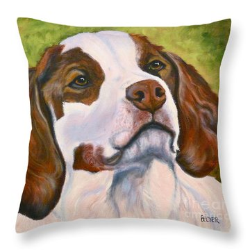 Spaniel Soul Throw Pillow