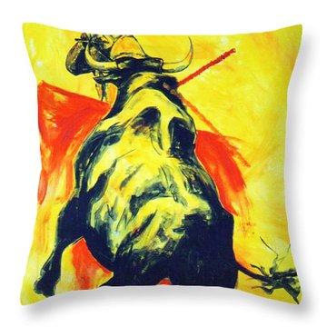 Spanish Bullfight Throw Pillow