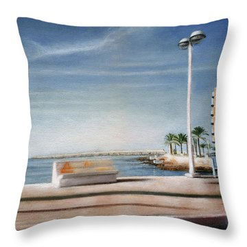 Spanish Coast Throw Pillow