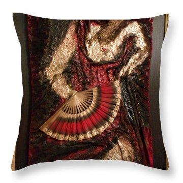 Spanish Dancer Framed Throw Pillow