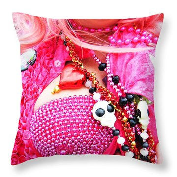 Spanish  Mardi Gras Parade Finery Louisiana Throw Pillow