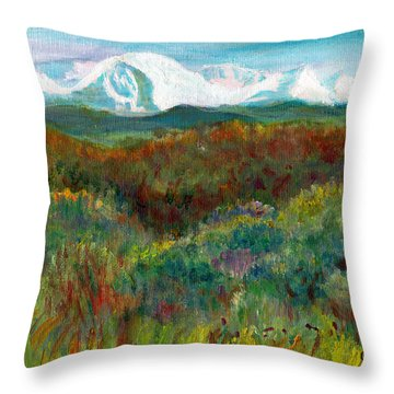 Spanish Peaks Evening Throw Pillow