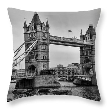 Spanning The Thames Throw Pillow by Heather Applegate