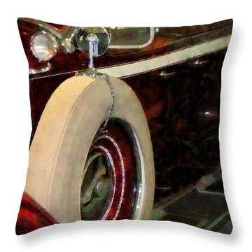 Spare Tire Throw Pillow by Susan Savad