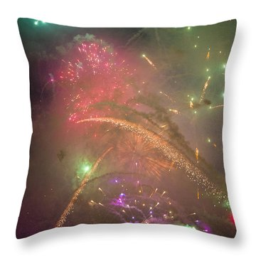 Sparked Sky Throw Pillow