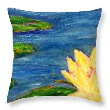 Sparking Lillies Throw Pillow