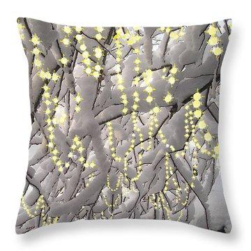 Sparkling Christmas Throw Pillow