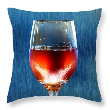 Sparkling Moscato Throw Pillow by Bill Tiepelman