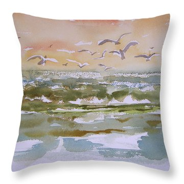 Sparkling Surf Throw Pillow